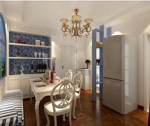 三室一厅地中海酒柜装修效果图