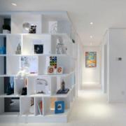 客厅现代简约风格置物架装饰