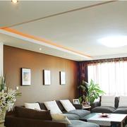 100平米房屋简约风格客厅沙发装饰