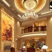 欧式奢华风格客厅圆形吊顶装饰