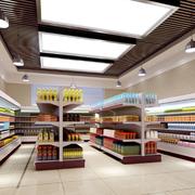 后现代风格超市货柜装饰