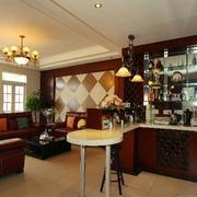 美式简约风格客厅吧台装饰