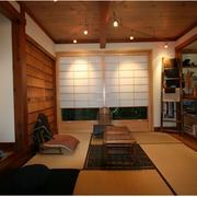 日式原木榻榻米床效果图
