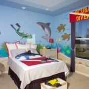 儿童房海底世界背景墙装饰