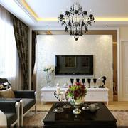 简约风格客厅硅藻泥背景墙装饰