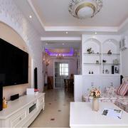 韩式客厅置物架装饰