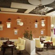现代简约风格咖啡厅桌椅装饰