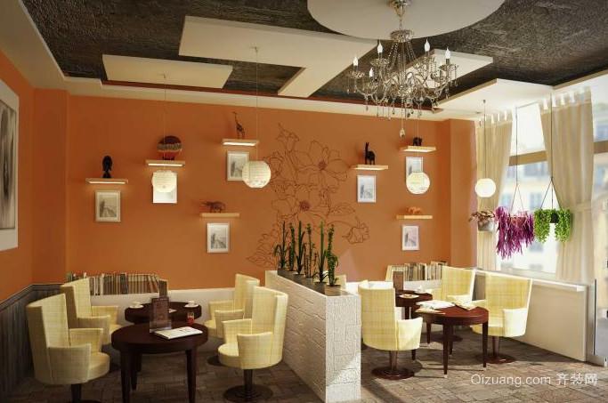 邂逅韩式咖啡厅装修设计效果图