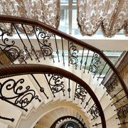美式简约风格精致楼梯扶手装饰