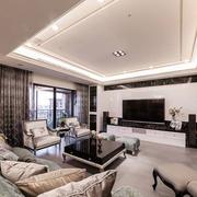 简欧风格客厅沙发装饰