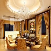 欧式简约风格餐厅背景墙装饰