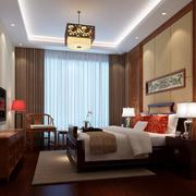 中式卧室简约风格吊顶装饰