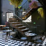 loft风格公寓楼梯装饰