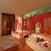 欧式风格粉色系儿童房装饰