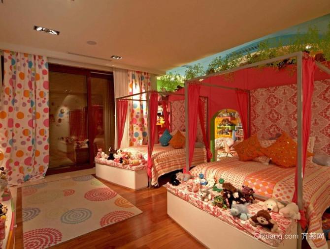 50平米地中海风格双人间儿童房装修效果图