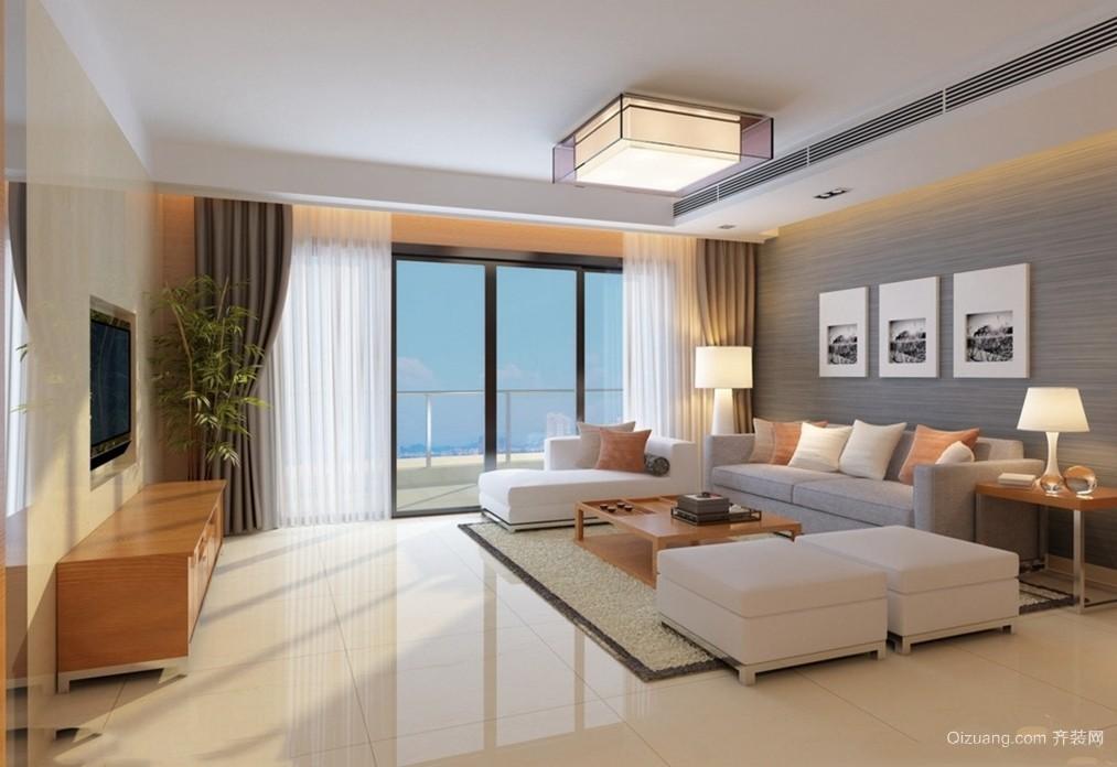 2015全新90平米大户型客厅装修设计展示图