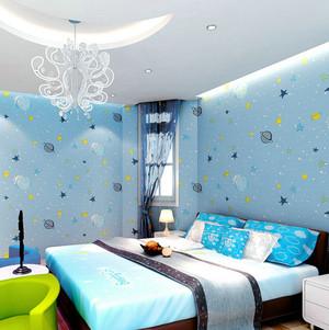 2015地中海风格儿童卧室背景墙装修效果图