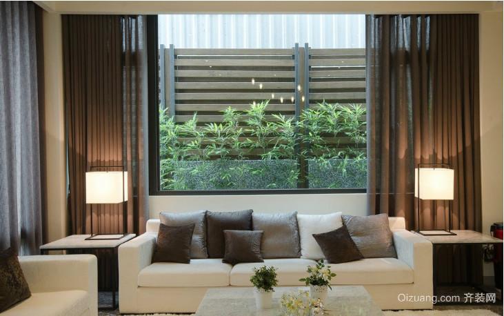 日式别墅窗帘效果图