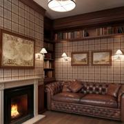 美式小户型公寓壁炉装饰