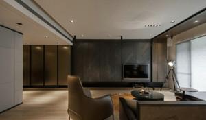 90平米日式风格客厅电视背景墙装修效果图