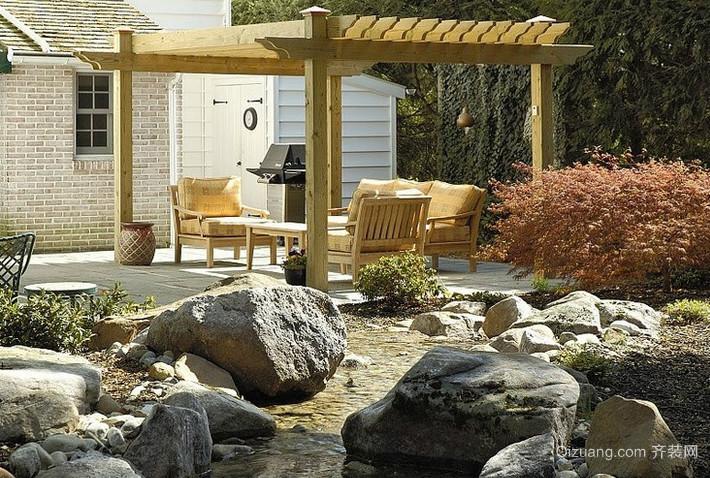 农村房屋小庭院设计效果图