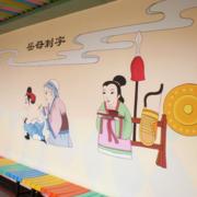 幼儿园古韵漫画壁纸装饰