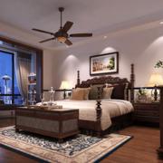 东南亚风格卧室原木地板装饰