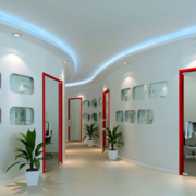 现代简约风格走廊文化墙装饰