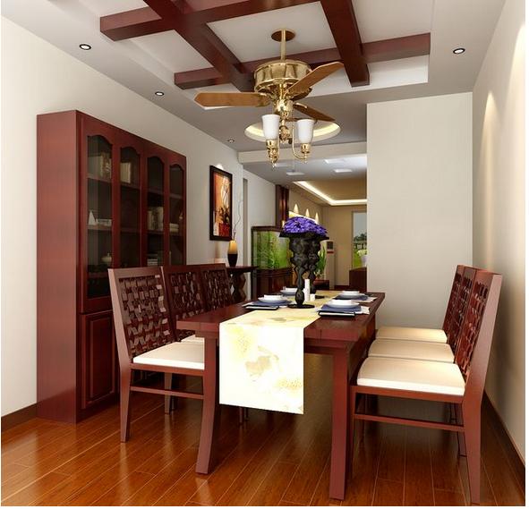三室一厅东南亚酒柜装修效果图