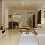 100平米房屋简约风格客厅照片墙装饰