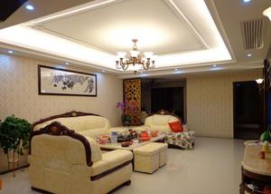 120平米现代欧式客厅吊顶装修效果图
