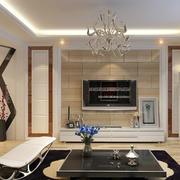 中式风格客厅电视背景墙装饰