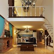 复式简约小型楼梯效果图