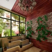 东南亚风格别墅入户花园