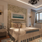 欧式奢华风格房间床头背景墙