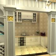 三室一厅简约风格厨房酒柜装饰