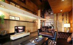 120平米东南亚客厅电视背景墙效果图