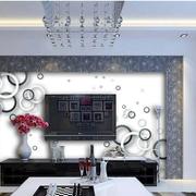 韩式客厅电视背景墙装饰