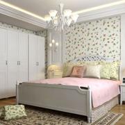 韩式简约风格房间床头背景墙