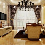 欧式经典风格客厅罗马柱装饰