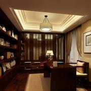 素雅中式书房装修