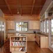 日式原木小房间书房装饰