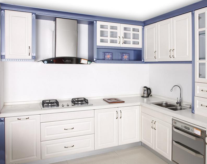 90平米大户型现代 豪华型厨房 欧派橱柜 装修 效高清图片