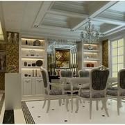 三室一厅欧式客厅酒柜效果图