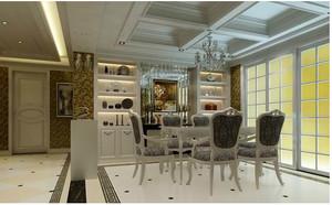三室一厅欧式酒柜装修效果图