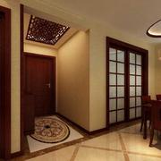 中式禅意玄关装饰效果图