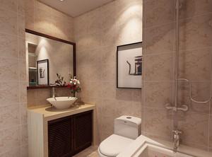 90平米大户型现代时尚卫生间瓷砖背景墙装修效果图
