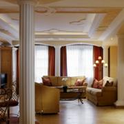 别墅简约风格罗马柱装饰