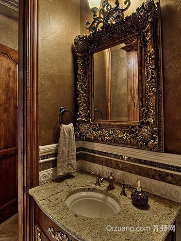 20平米美式复古卫生间装修效果图