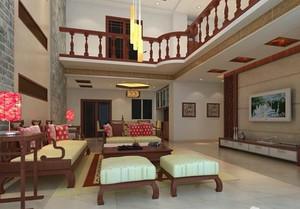 中式简约楼中楼客厅装饰